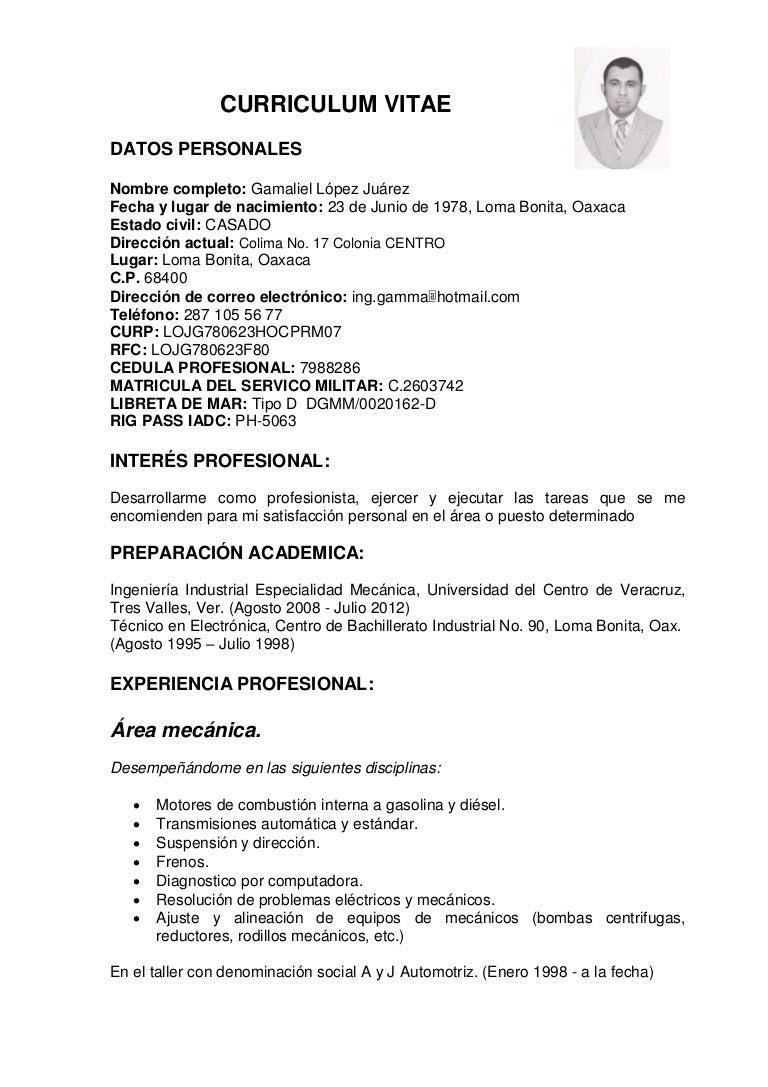 Contemporáneo Ejemplos Militares Del Curriculum Vitae Del Mecánico ...