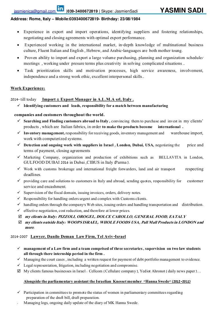 Fein Import Manager Lebenslauf Ideen - Entry Level Resume Vorlagen ...