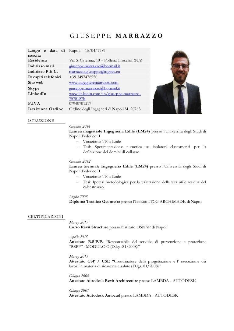 Cv Ing Giuseppe Marrazzo
