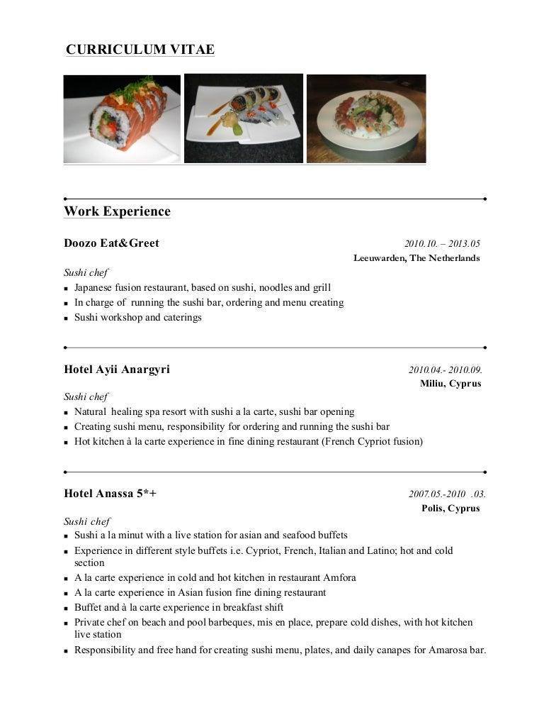 Sushi Chef Presentasjon