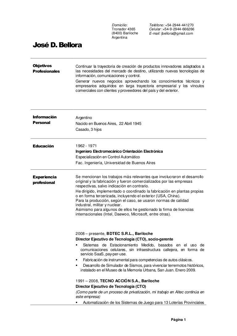 CV Jose Bellora