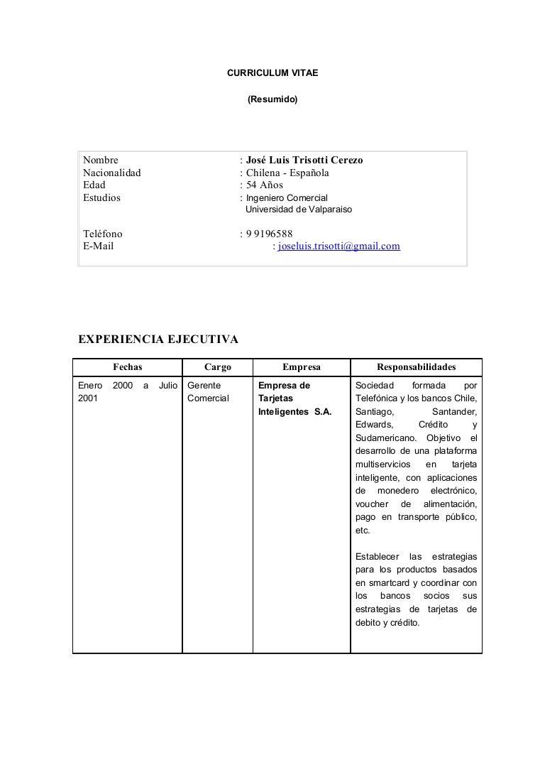 CV Jose Luis Trisotti