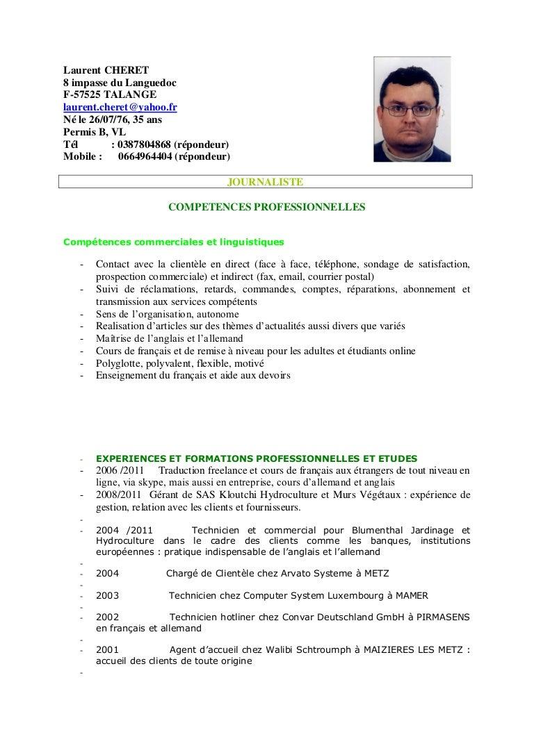 cv et lettre de motivation en ligne Cv journaliste cv et lettre de motivation en ligne
