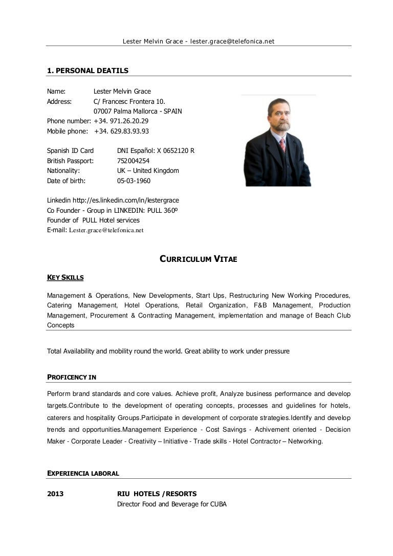 hotel general manager resumes