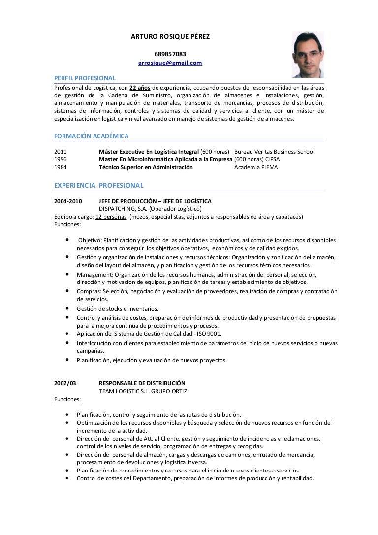 Cv LogíStica