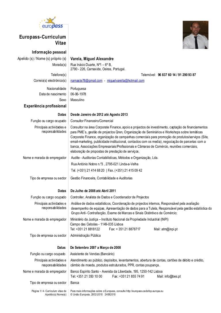 CV Miguel Varela