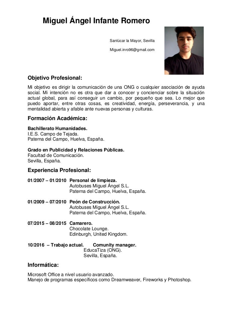 CV Miguel Ángel