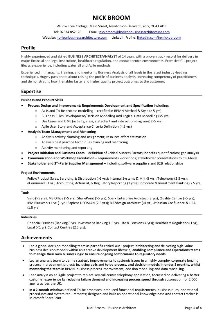 latest cv resume nick broom