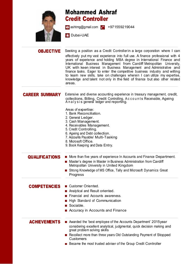 Cover Letter Accounting Controller] and controller sample resume ...