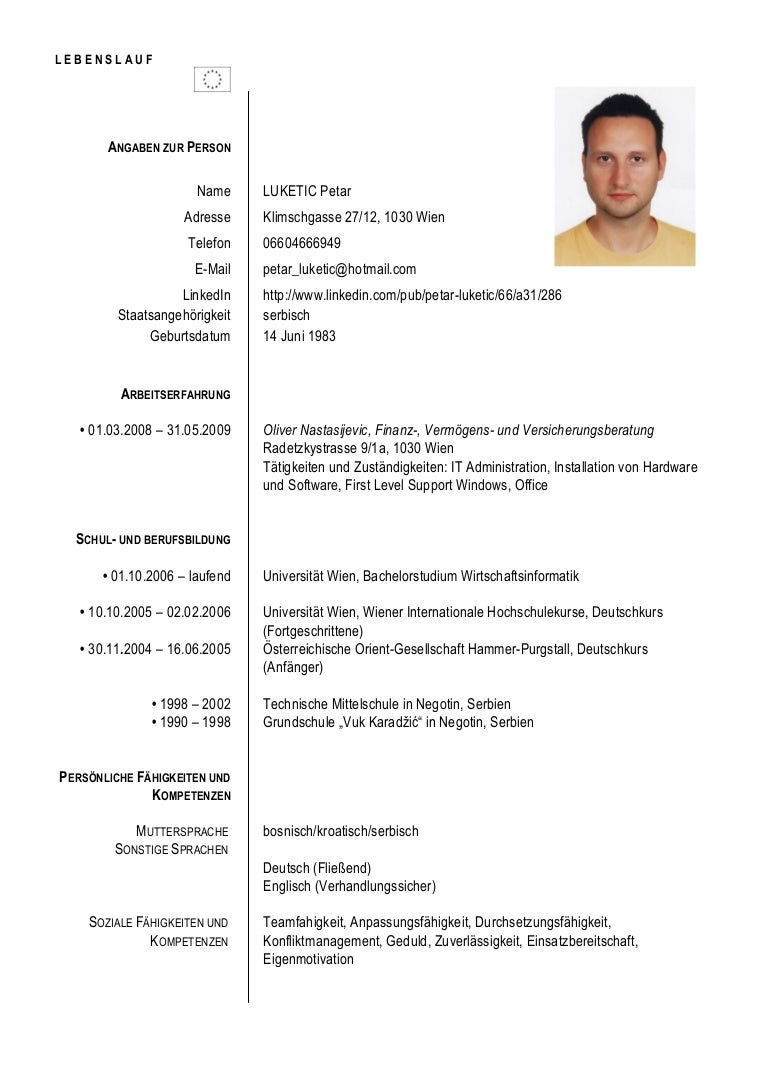 Schön Beispiel Lebenslauf Für Die Bewerbung Bei Uns Universitäten ...