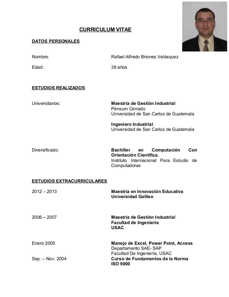 Cv R Briones