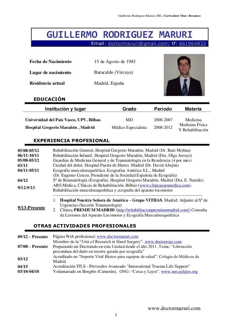 CV Doctor Guillermo Rguez Maruri