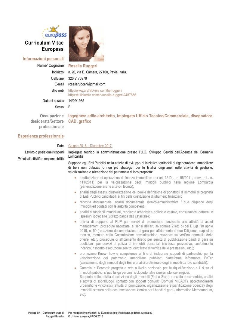 Cv Rosalia Ruggeri