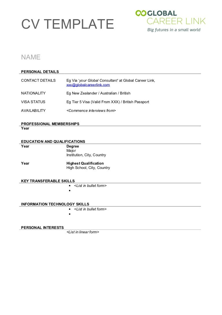 blank resume templates for microsoft word cv template 20623