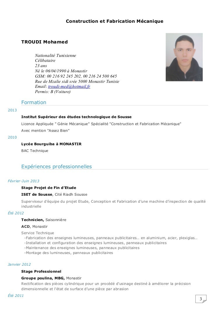 cv troudi mohamed