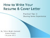 CV Writing Session by Taher - at Resala June 2011