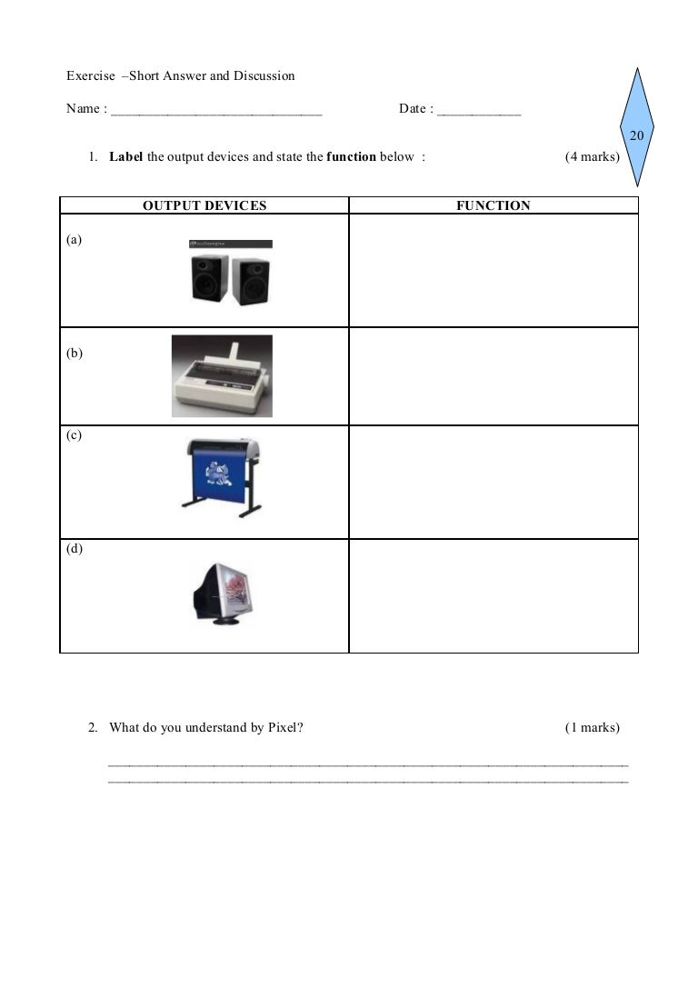worksheet Input Output Worksheet output devices in class worksheet hard