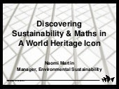Connect with Maths ~ Discovering Sustainability & Maths in a World Heritage Icon