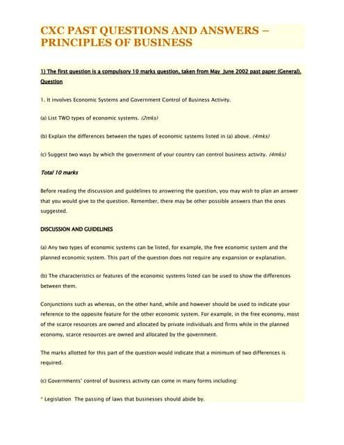cxc social studies multiple choice questions