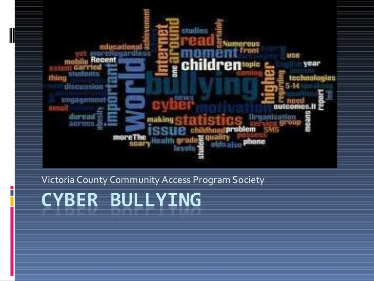 Cyber bullying powerpoint toneelgroepblik Images