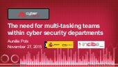 Multi-tasking teams within cyber security departments