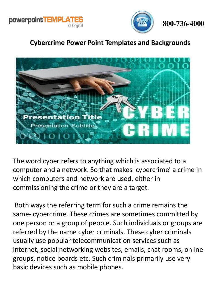 Cybercrime Powerpoint Templates And Backgrounds
