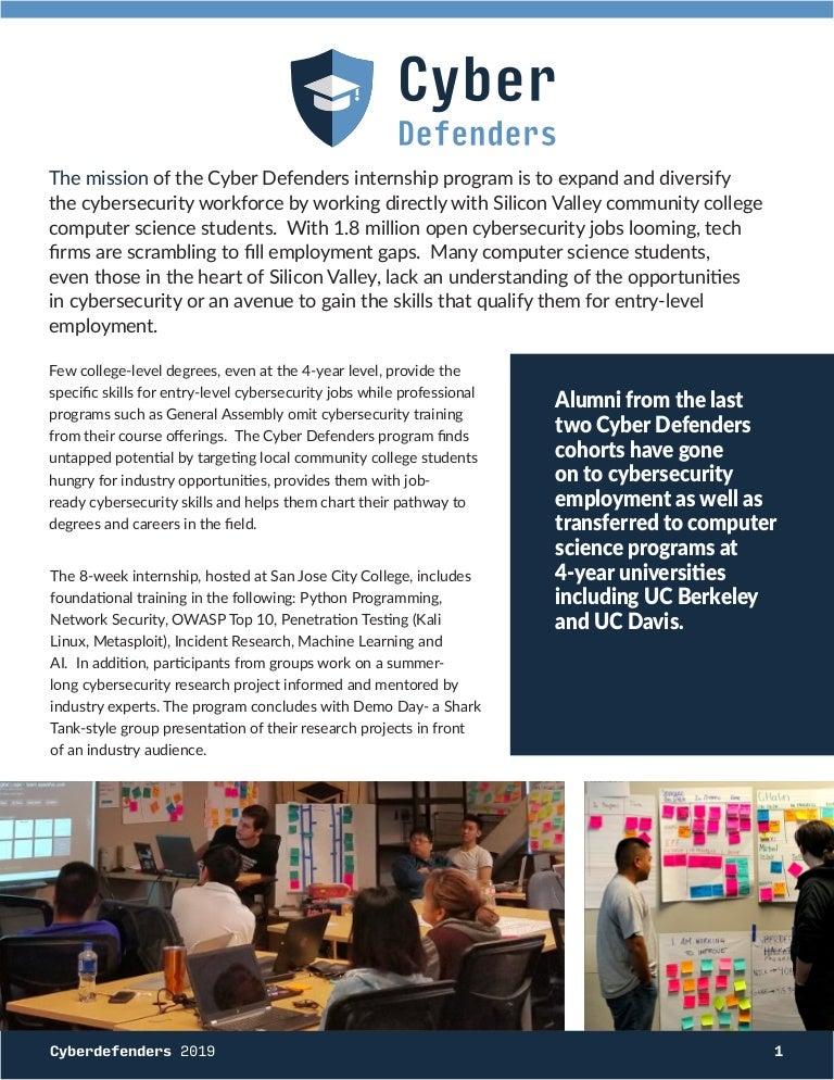 Cyber Defenders Flyer 2019