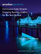 Continuous Cyber Attacks: Engaging Business Leaders for the New Normal - Full Report