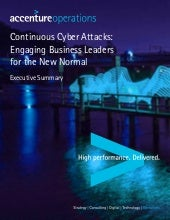 Continuous Cyber Attacks - Report Summary
