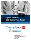 Cyber Job Fair Job Seeker Handbook April 19, 2018, San Antonio