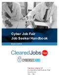 Cyber Job Fair Job Seeker Handbook Jan 23, 2018, San Antonio