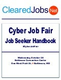 Cyber Job Fair Job Seeker Handbook Oct 28, 2015, Baltimore, Md