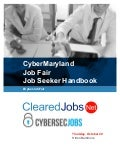 CyberMaryland Job Fair Job Seeker Handbook October 20, 2016, Baltimore, Maryland