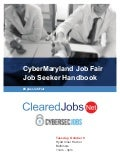 CyberMaryland Job Fair Job Seeker Handbook October 9, 2018, Baltimore, MD