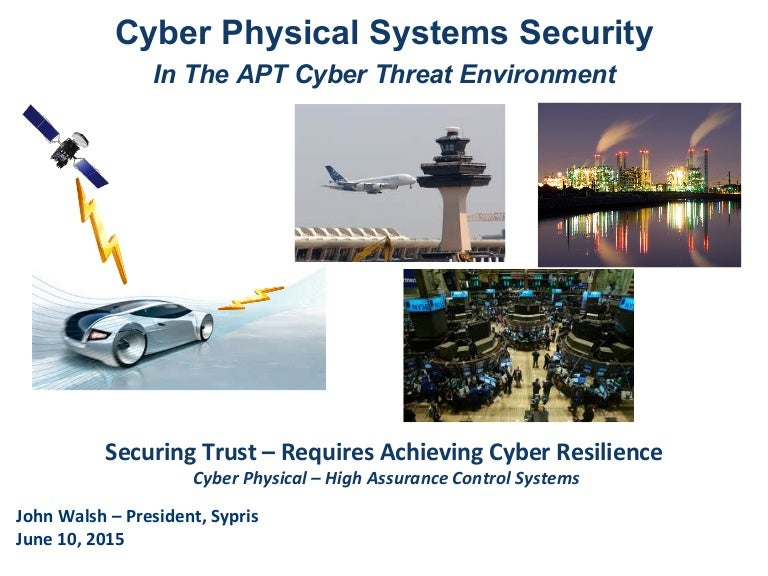 John Walsh, Sypris on Cyber Physical Systems - Boston SECoT