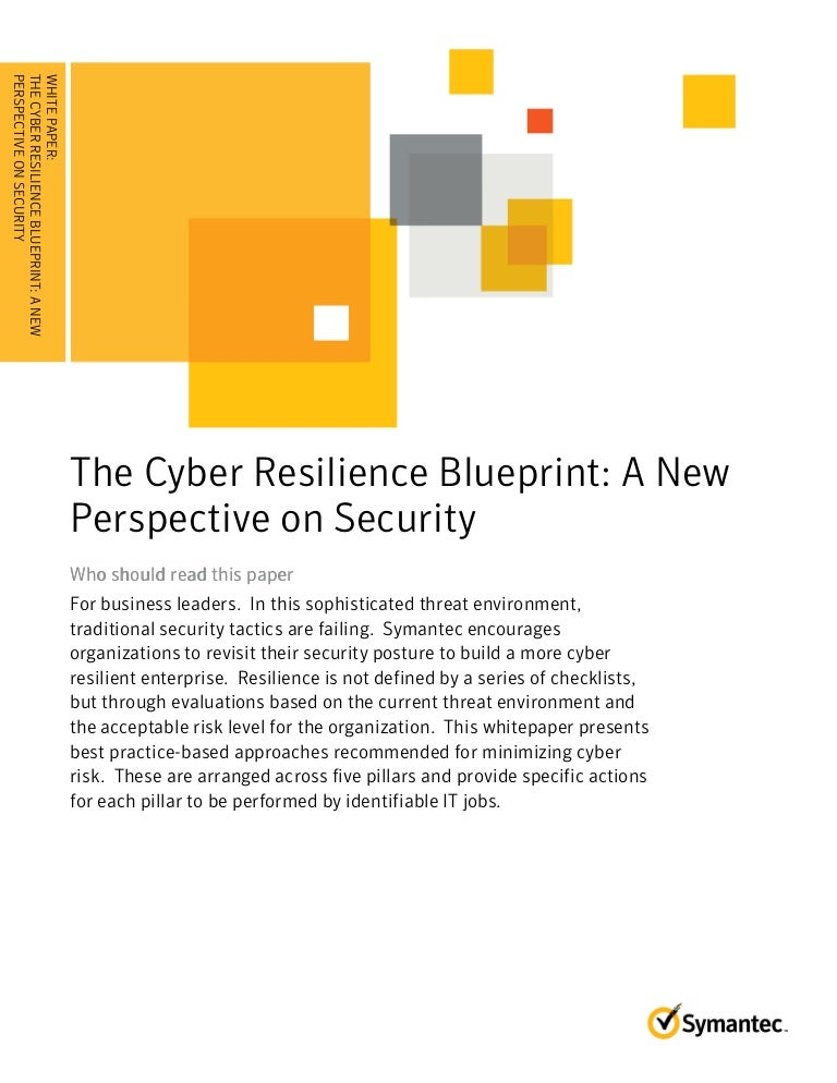Cyber resilience blueprint a new perspective on security malvernweather Image collections