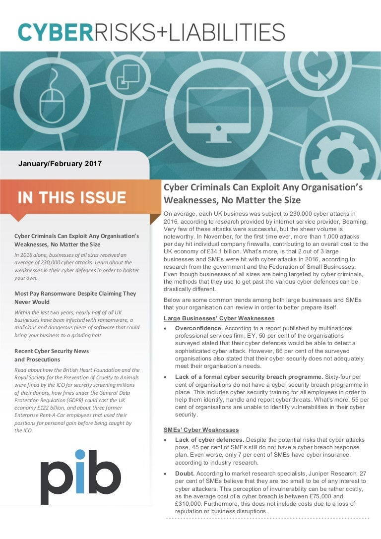 cyber risks and liabilities newsletter jan feb 2017