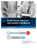 CyberTexas Job Fair August 20, 2019 San Antonio