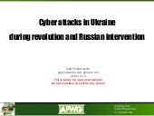 Cyber attacks in Ukraine