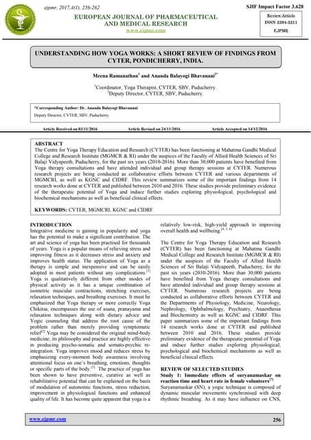 Therapeutic Potential of Pranayama