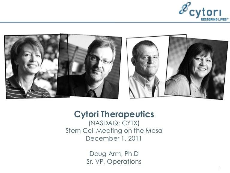 Stem Cell Meeting on the Mesa 2011: CYTX Presentation