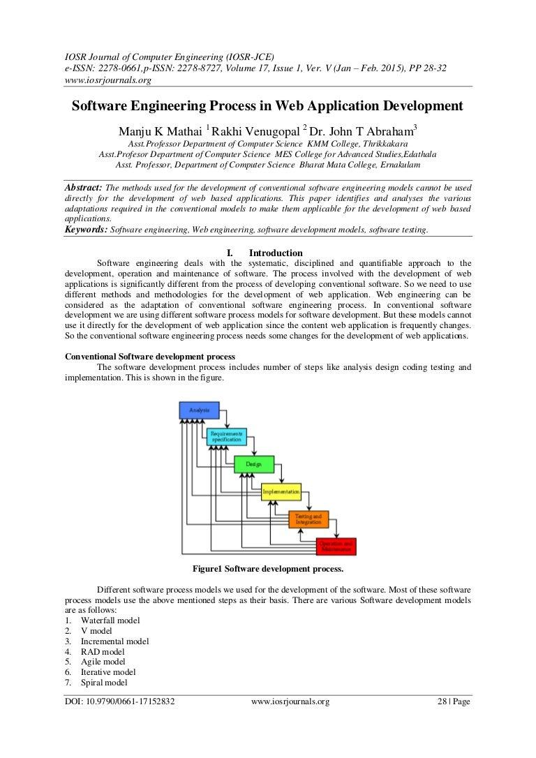 Software Engineering Process In Web Application Development