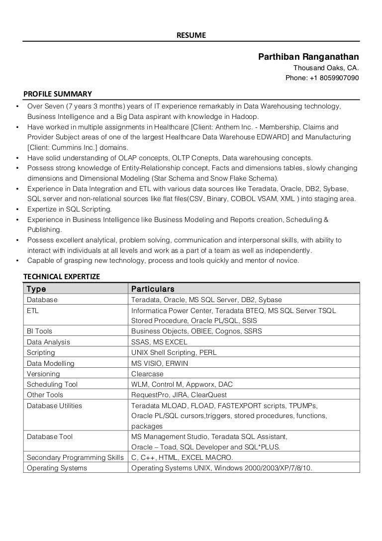 resume parthiban ranganathan