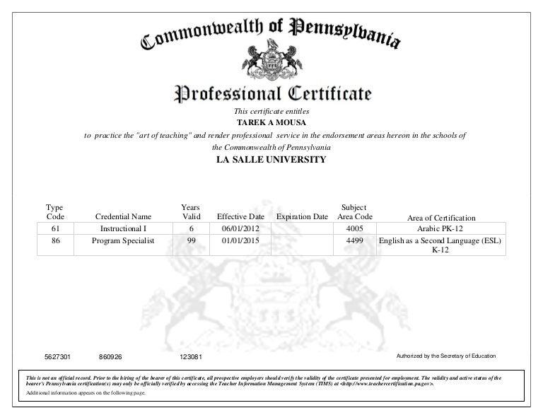 ESL Certificate K-12