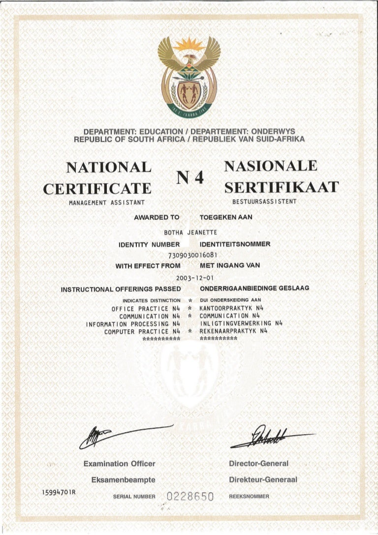certificate n4 slideshare upcoming