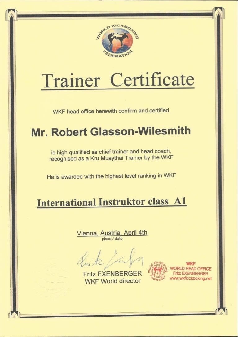 Wkf kru master trainer certification xflitez Images