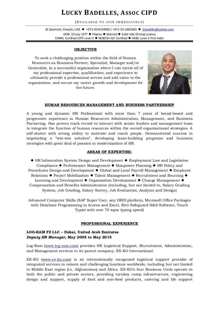 Lucky Badelles Assoc CIPD - CV - 2015-05-11
