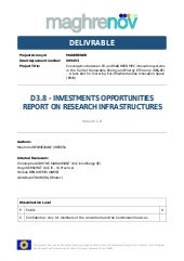 MAGHRENOV deliverable 3.8 Investments opportunities report on research infrastructures