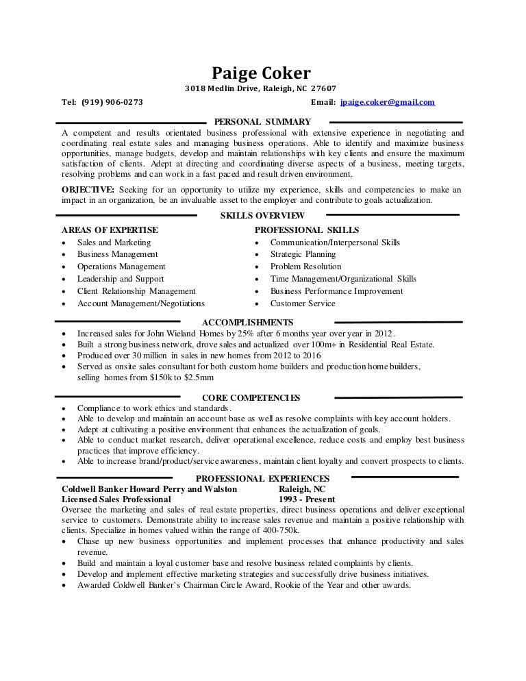 home builder resume