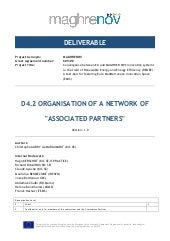 MAGHRENOV deliverable 4.2: organisation of a network of associated partners